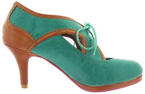 Banned - Zapatos de vestir de Material Sintético para mujer Turquesa - Turquoise-Tan