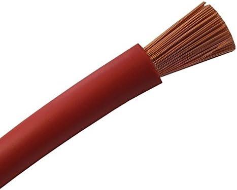 Batteriekabel Aderleitung ROT H07V-K 6/10 / 16/25 / 35 oder 50 mm²- KFZ Batterie Kabel - OFC 100% Kupfer - Schnitt - Meterware nach Ihren Wünschen - 6mm2-10mm2-16mm2-25mm2-35mm2-50mm2