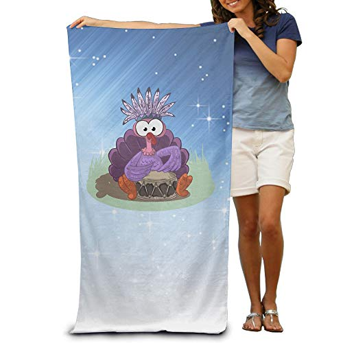 Aiguan Bath Towel - Halloween Turkey Lightweight Large Swim Beach Towels ()