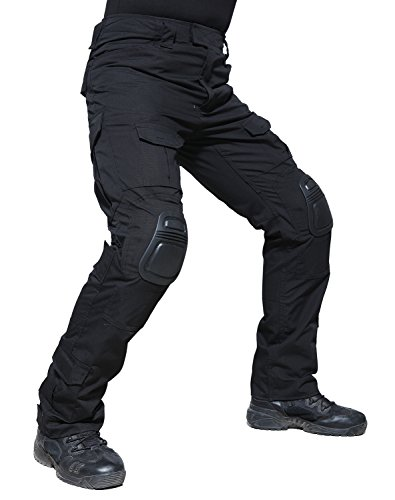 TACVASEN Tactical Ripstop Combat Trousers Airsoft Pants with Knee Pads