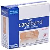 Care Band Waterproof Adhesive Bandages 1x3 100/box