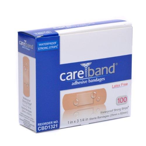 Care Adhesive Bandages - Care Band Waterproof Adhesive Bandages 1x3 100/box