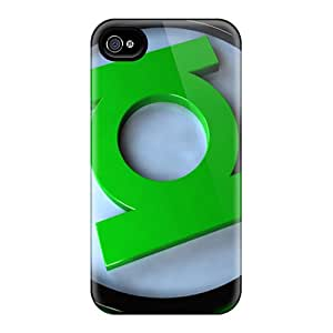 Iphone 4/4s Cover Case - Eco-friendly Packaging(green Lantern Logo)