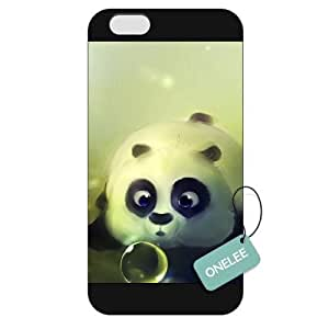 Onelee(TM) - Customized The Panda Baby Blowing Bubbles Apple iPhone 6 Plus 5.5 Hard Plastic case cover