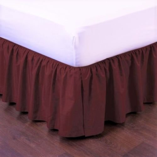 - New Modern Solid DUST Ruffle Split Corners 1PC Bed Bedding Pleated Skirt 14