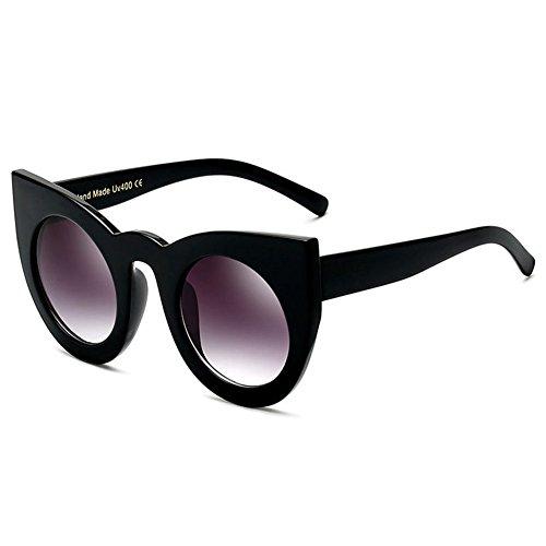 hibote Oeil de chat Lunettes de soleil Femme Vintage Rond Sun Glasses UV400 C3