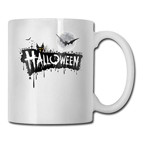 WXSM Halloween Font Design Custom Coffee Mugs / 11oz Ceramic Tea Cup - Novelty Gift]()