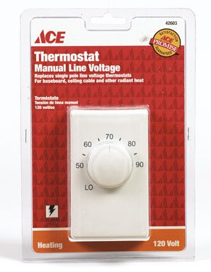 (Lux Products Corporation 11042 Single Pole Line Voltage Thermostat)