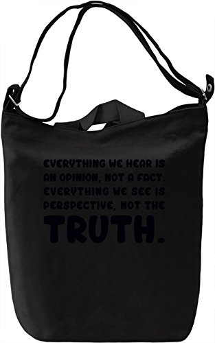 Fact of Truth Borsa Giornaliera Canvas Canvas Day Bag| 100% Premium Cotton Canvas| DTG Printing|