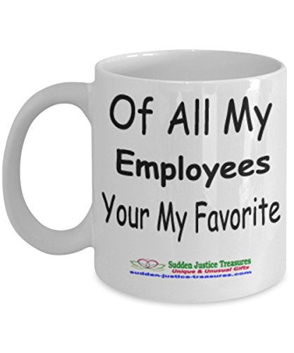 Taxi Cookie Jar (Of All My Employees Your My Favorite White Mug Unique Birthday, Special Or Funny Occasion Gift. Best 11 Oz Ceramic Novelty Cup for Coffee, Tea, Hot Chocolate Or Toddy)