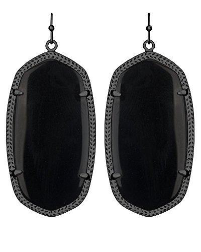"""Kendra Scott """"Starstruck"""" Danielle Gunmetal Black Opaque Glass Drop Earrings from Kendra Scott"""