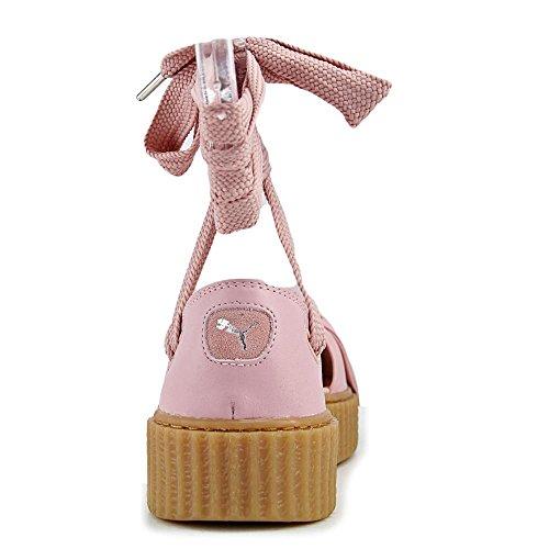 Sandalo La Donna Creeper Bow 9 Us Sandal Rosa Zeppa Con Puma Pg01Fqnq