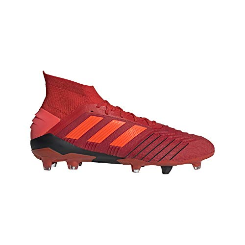 adidas Predator 19.1 FG Cleat Men s Soccer 9.5 Action Red-Solar Red-Black 64395a52b