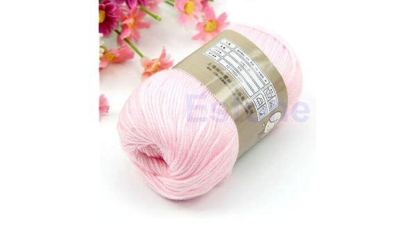 FidgetKute 1 madeja de 50 g de algodón de Seda Natural, suéter de bebé, Lana Suave para Tejer Caliente: Amazon.es: Hogar