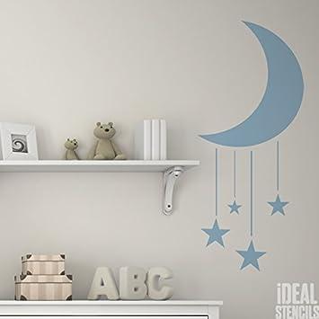 Sterne & moon kinderzimmer Schablone Kinderzimmer Haus Wand ...