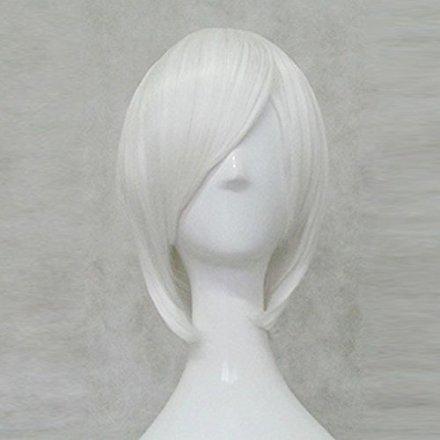 NieR:Automata 2B YoRHa Type A No.2 White 35cm Cosplay Wig +