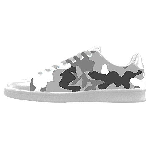 Custom camuffamento Mens Canvas shoes I lacci delle scarpe in Alto sopra le scarpe da ginnastica di scarpe scarpe di Tela.
