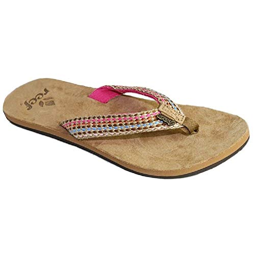 (Reef Women's Gypsylove Sandal,Pink,9 M US)