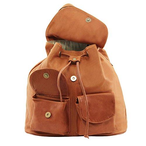 81415074 - TUSCANY LEATHER: SEOUL - Sac à dos en cuir - Grand modèle, marron foncé