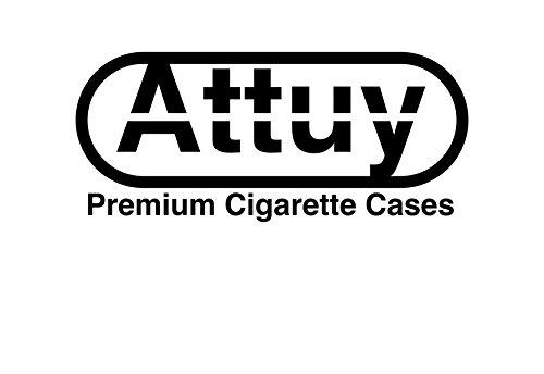 ATTUY E-Zigaretten-Etui E-Ziggi Berlin im Kroko-Look aus Kunstleder, Schwarz Blau