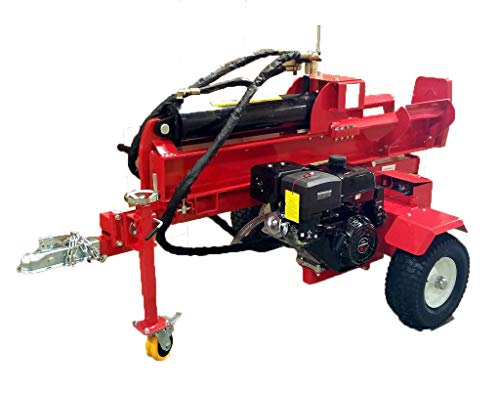 50 Ton, 15HP Hydraulic Gasoline Powered Log Wood Splitter Cutter Machine, with 18GPM 2 Stage Pump and 7.5