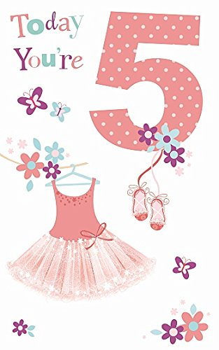 Amazon Com Age 5th Happy Birthday Girl Today You Re 5 Greeting Card