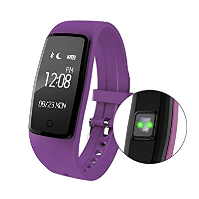 Smart Wristband Sports Monitoring Heart Rate Sports Wristband Heart Rate Monitor Bracelet Bluetooth Fitness Wristband Precision Dynamic Heart Rate Active content display?Purple?