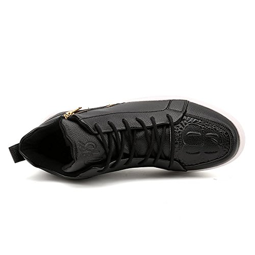 Unita e Moda Unita Tinta Nero con Casual Uomo Scarpe Cricket Tinta Skateboard Forti Taglie Tinta da Donna Unita da Sneakers Scarpe Stile zfw4qzE