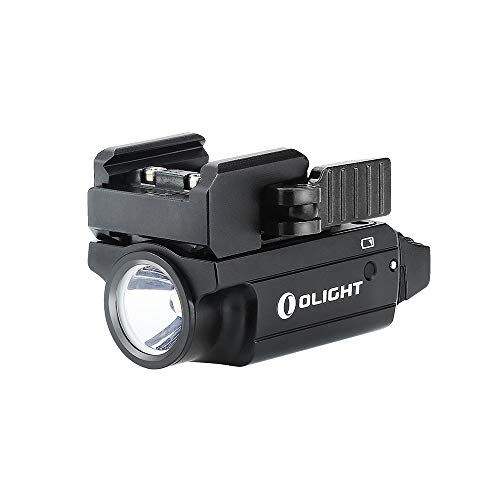 Olight PL-Mini 2 Valkyrie 600 Lumens USB Rechargeable Weaponlight Cree XP-L HD CW LED Compact Gunlight, with Build-in Lithium Polymer Battery 100 Meters Waterproof IPX6 (PL-Mini II Black)