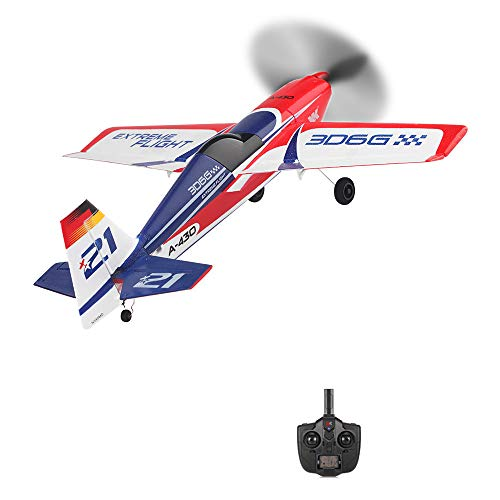 Pjjfmcbom 6 Axis Gyro RC Airplane Compatible with FUTABA S-FHSS, Brushless Motor Fixed-Wing XK A430 2.4G 5CH 3D 6G System RC Airplane Made of EPS (3D6G, AS Show)