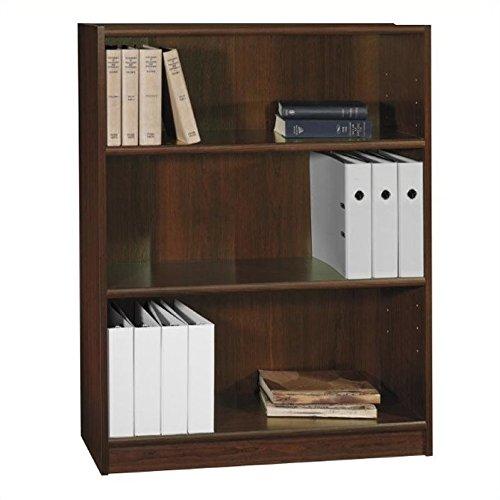 Vogue Cherry - Pemberly Row 3 Shelf Wood Bookcase in Vogue Cherry