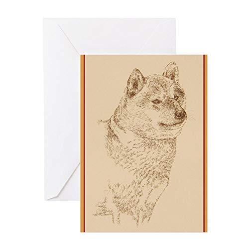 CafePress Shiba_Inu_Kliney Greeting Card, Note Card, Birthday Card, Blank Inside Matte