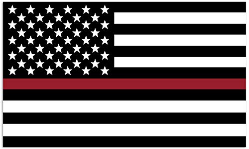 Mind Your Magnets American Flag Car Magnet - Thin Red Line - Firefighters, EMTs, Marines, Coast Guard Flags