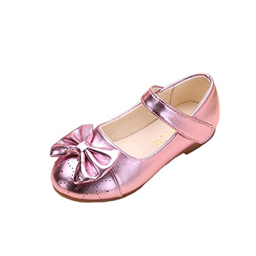 JTENGYAO Baby Grils Dress Up Princess Shoes Flat Heel Dance Shoes For Party Wedding -