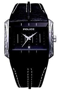 Police GLAMOUR MATRIX PL11190JS/02 - Reloj analógico de mujer de cuarzo con correa de piel negra
