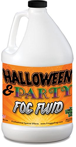 Froggys Fog - 1 /2 Gal (64 Oz.) Organic Fog Juice - Medium Density, High Output, Long Lasting Fog Machine Fluid for Water Based Fog Machines - American Made - Perfect for 400 Watt to 1500 Watt Foggers (Smoke Juice)