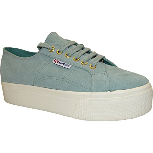 Superga 2790 Suew Womens Shoes Green Lt Sage (Large Image)