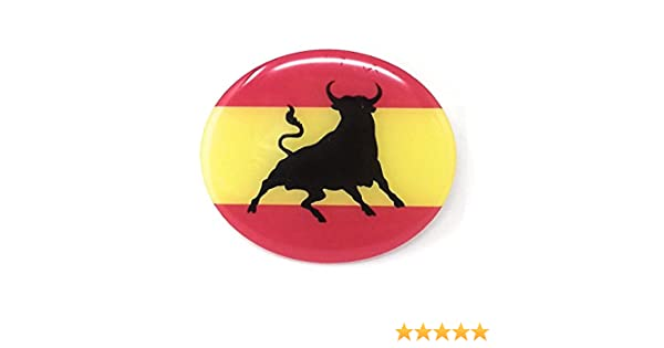 MoICar Bandera de España con Toro Pegatina 3D Adhesivo Relieve ...
