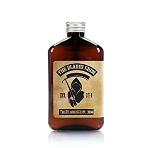 The Blades Grim – Aftershave Oil, Handmade in the USA (Smolder, 8.45oz)