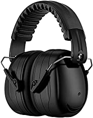 Ear Protection Safety Ear Muffs, NRR 28dB Safety Earmuffs for Hearing Protection, with Padded Headband, Compac