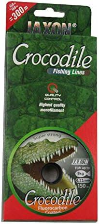 Jaxon Angelschnur Crocodile Green 2x150m 0,14mm-0,40mm Spule Monofil