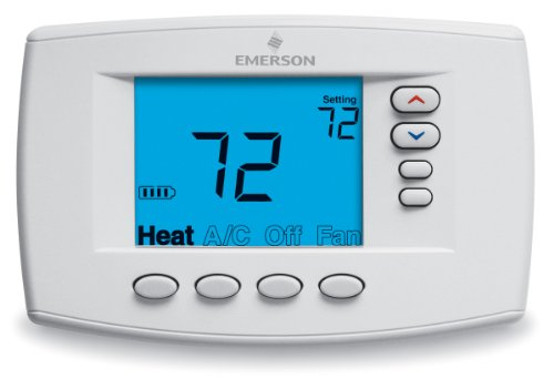 Emerson 1F95EZ-0671 Easy-Reader 7-Day Programmable Thermostat - White Rodgers Programmable Thermostat