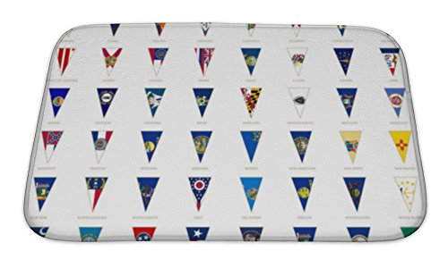 Gear New Memory Foam Bath Rug, Flags Of USA States All State Flags Triangle Icon, 24x17, 6601576GN Arkansas Confederate Flag