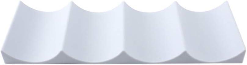 Bianca+Grigio Scuro SoundZero 2pcs portabottiglie in plastica Stile Europeo Portabottiglie da Tavolo per Frigorifero Ideale per Cucina Frigorifero 4 Ripiani portavino impilabili per 10 Bottiglie