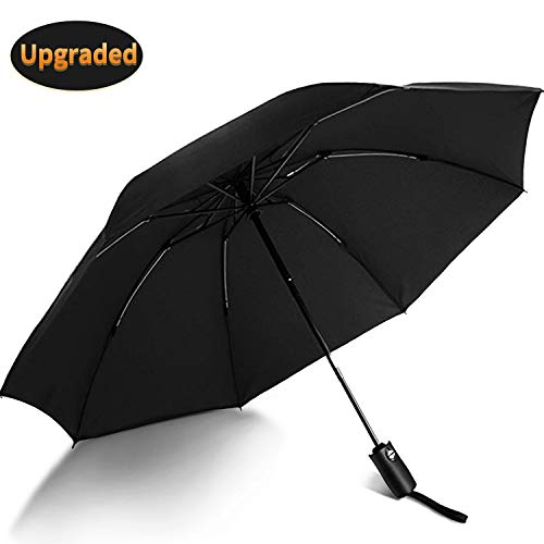 VATI Umbrella, Travel Umbrella Windproof with 210T Teflon Coating, Compact Folding Umbrellas with Ergonomic Handle, Auto Open/Close (Red) ...