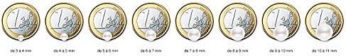 Pendentif Femme Pearls /& Colors AM18-9CPC-097-1P7B-GO 9 carats Or blanc V/éritables Perles deau douce