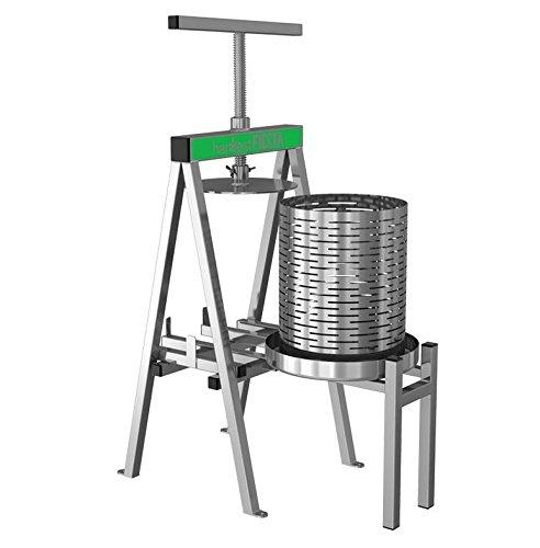 Harvest Fiesta Stainless Steel Fruit and Wine Press, 15 Liter
