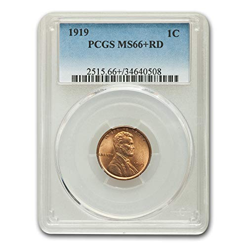 1919 Lincoln Cent MS-66+ PCGS (Red) Cent MS-66 PCGS