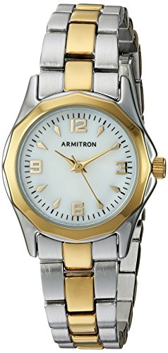 Amazon.com: Armitron Womens 75/3861MPTT Two-Tone Bracelet Watch: Watches