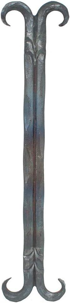 E S235JR Num/éro de maison Fer forg/é Acier 180x100 mm Grande brut Lettre E Acier